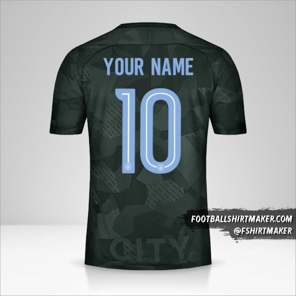 Manchester City 2017/18 Cup III shirt number 10 your name