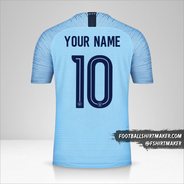 Manchester City 2018/19 Cup shirt number 10 your name