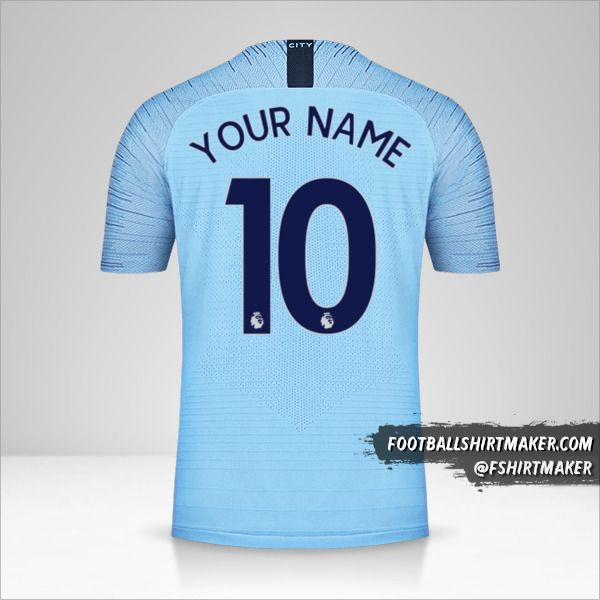 Manchester City 2018/19 shirt number 10 your name