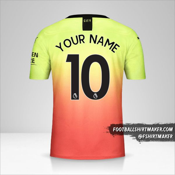 Manchester City 2019/20 III shirt number 10 your name
