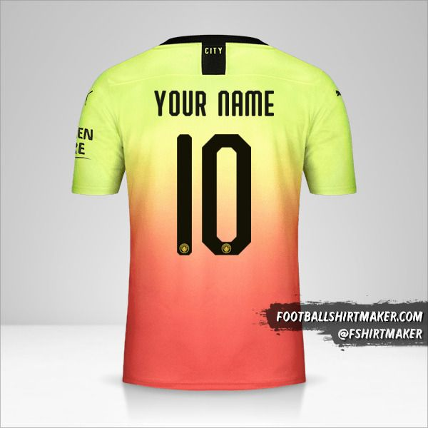 Manchester City 2019/20 Cup III shirt number 10 your name