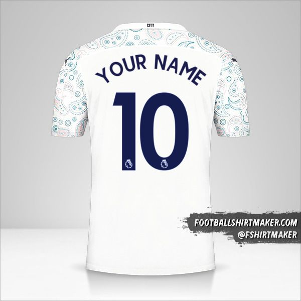 Manchester City 2020/21 III shirt number 10 your name