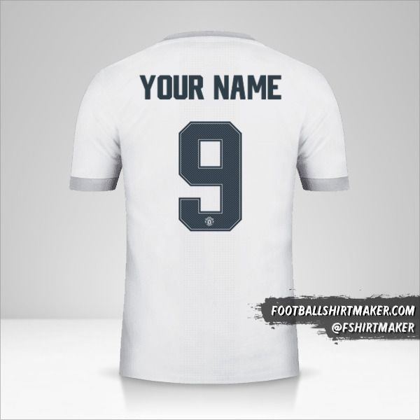 Manchester United 2017/18 Cup III shirt number 9 your name