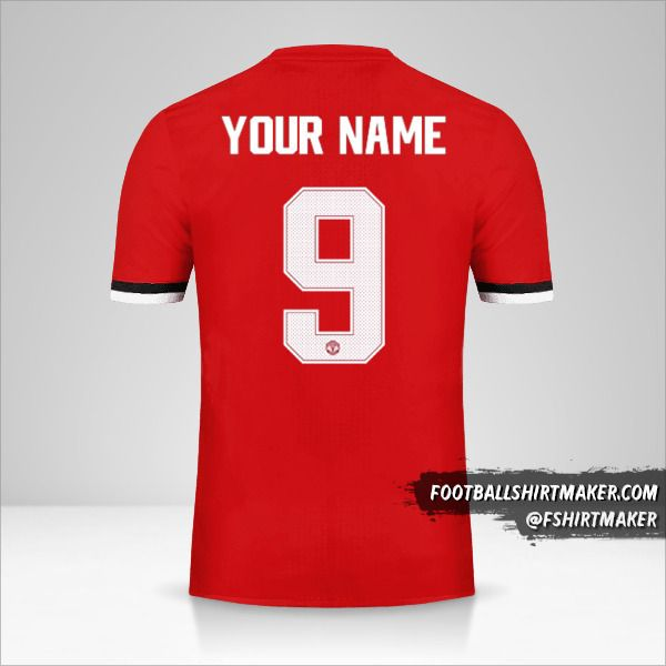 Manchester United 2017/18 Cup shirt number 9 your name