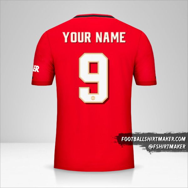 Manchester United 2019/20 Cup shirt number 9 your name