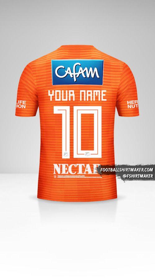Millonarios FC 2018 III shirt number 10 your name