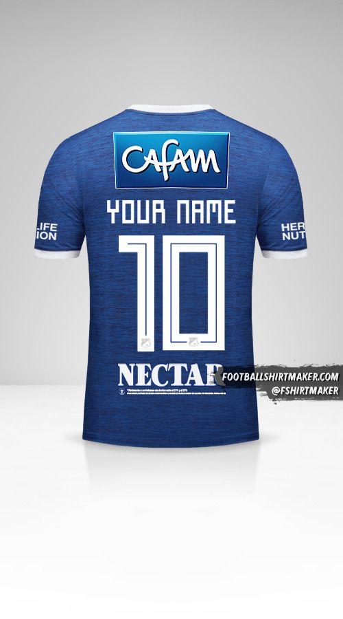 Millonarios FC 2018 shirt number 10 your name