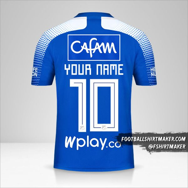 Millonarios FC 2020 shirt number 10 your name