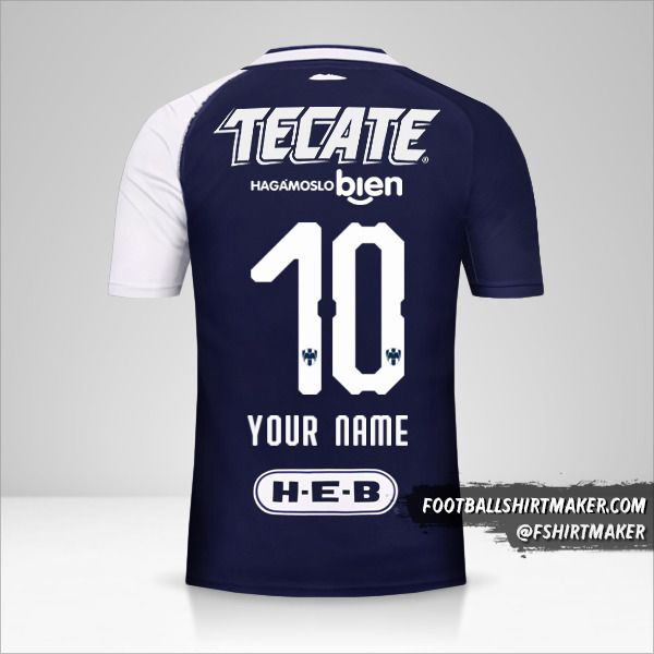 Monterrey 2018/19 III shirt number 10 your name