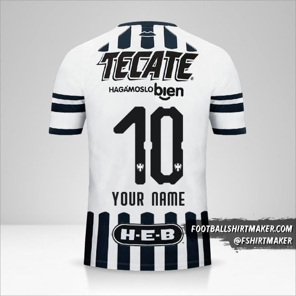 Monterrey 2018/19 shirt number 10 your name