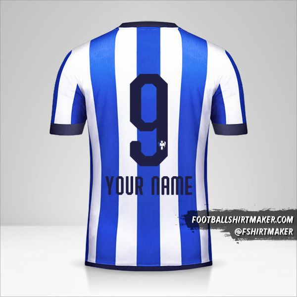 Monterrey Mundial de Clubes 2019 shirt number 9 your name