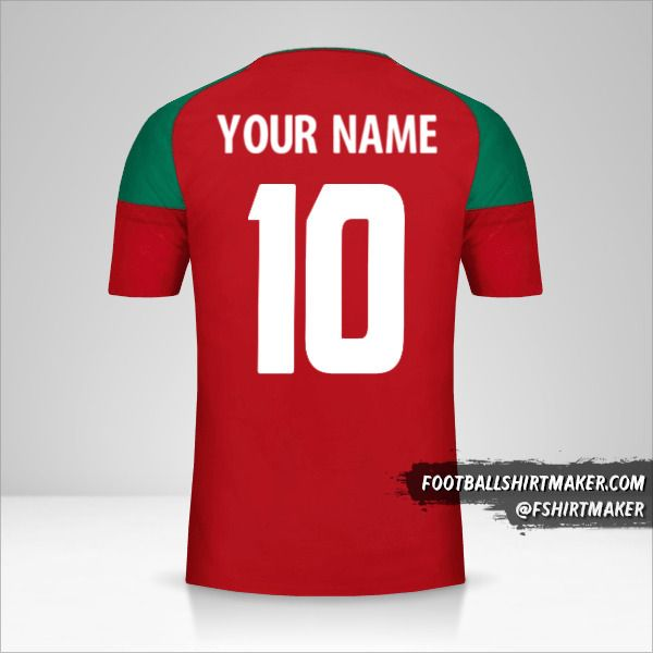 Morocco 2017 shirt number 10 your name