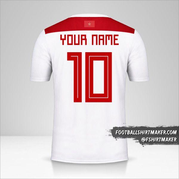 Morocco 2018 II shirt number 10 your name