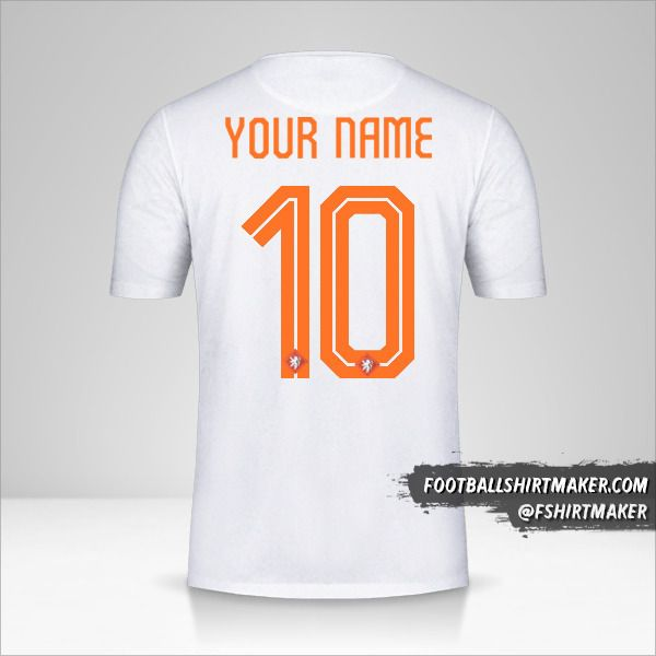 Netherlands 2015 II shirt number 10 your name