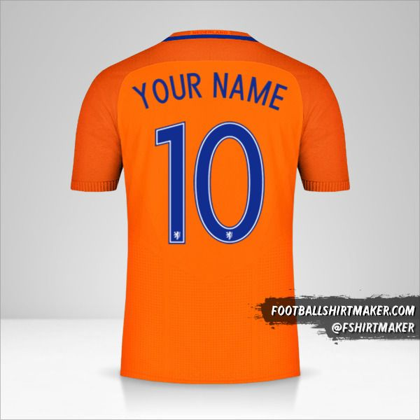 Netherlands 2016 shirt number 10 your name
