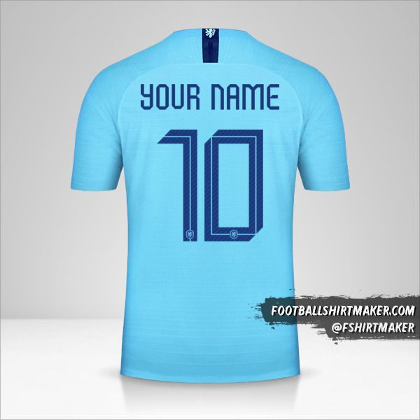 Netherlands 2018/19 II shirt number 10 your name