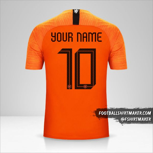 Netherlands 2018/19 shirt number 10 your name