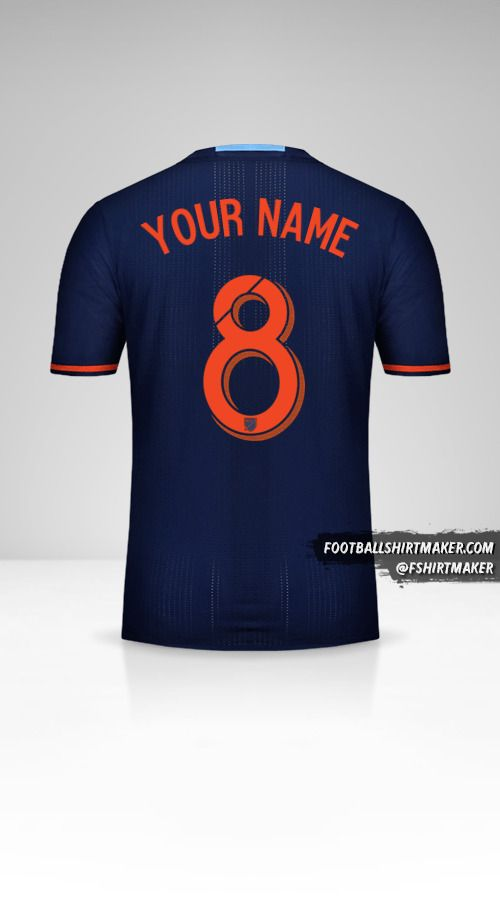 New York City FC 2016/17 II shirt number 8 your name