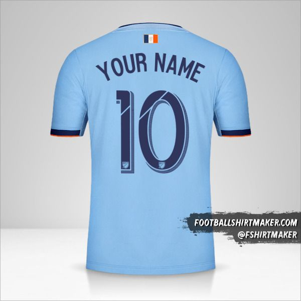 New York City FC 2019 shirt number 10 your name