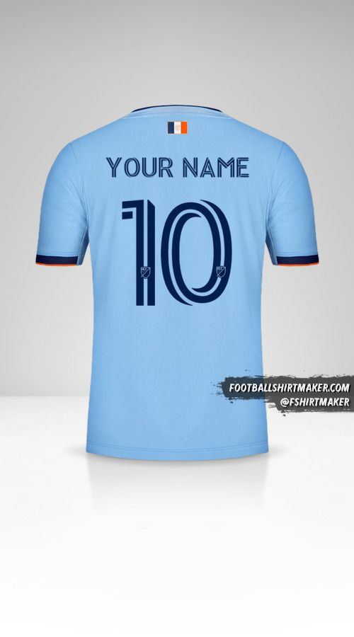 New York City FC 2020 shirt number 10 your name