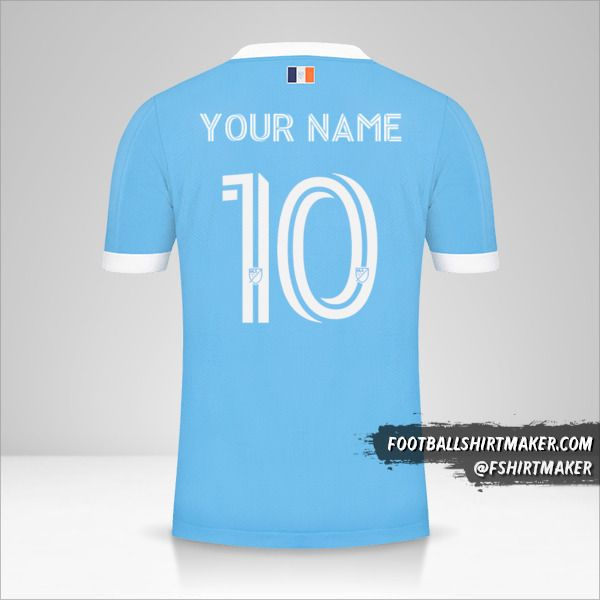 New York City FC 2021 shirt number 10 your name