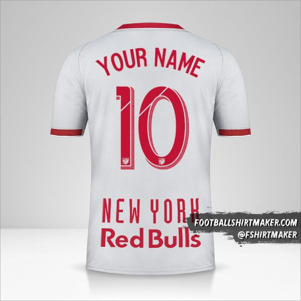 New York Red Bulls 2019 II shirt number 10 your name