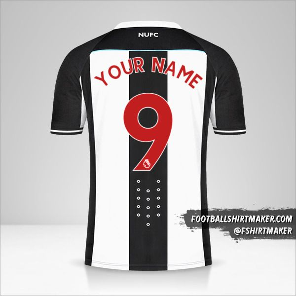 Newcastle United FC 2021/2022 shirt number 9 your name