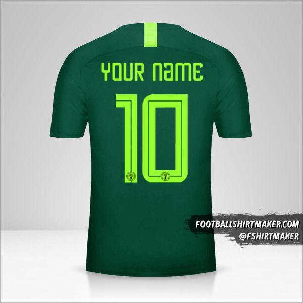 Nigeria 2018 II shirt number 10 your name