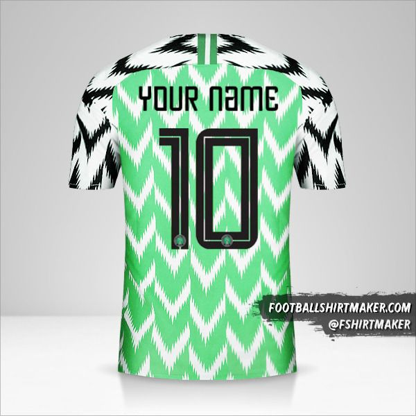 Nigeria 2018 shirt number 10 your name