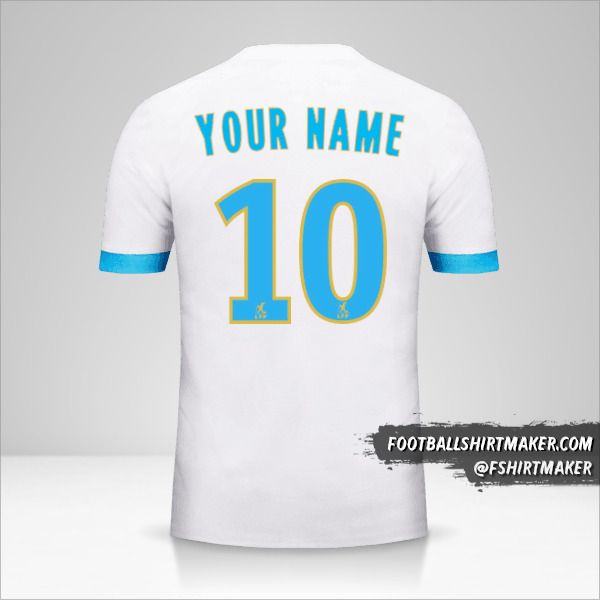 Olympique de Marseille 2017/18 shirt number 10 your name