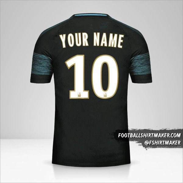 Olympique de Marseille 2018/19 II shirt number 10 your name
