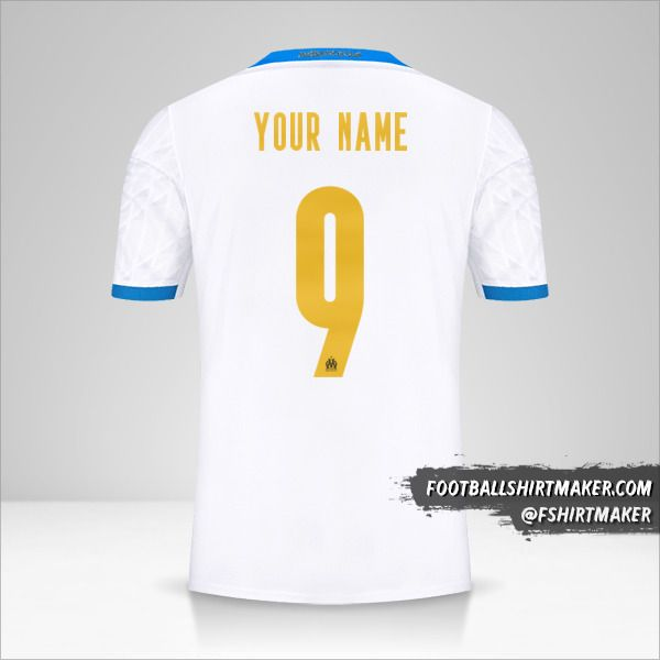 Olympique de Marseille 2020/21 Cup shirt number 9 your name