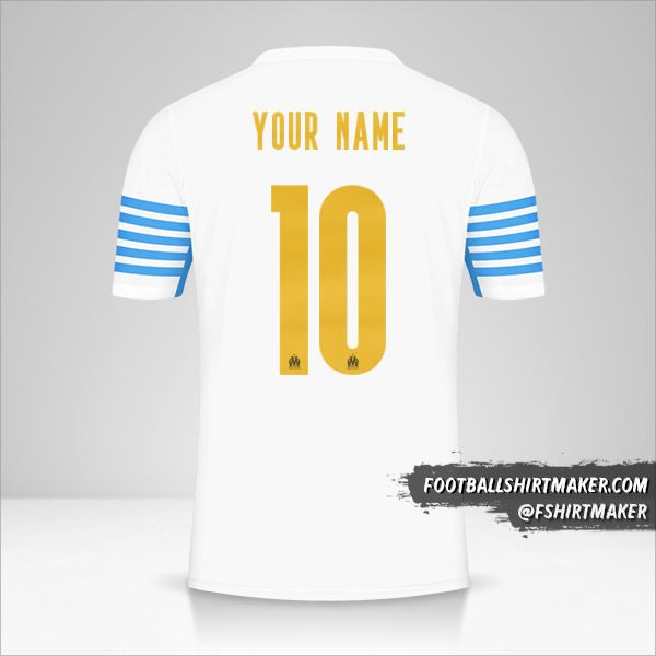 Olympique de Marseille 2021/2022 Cup shirt number 10 your name