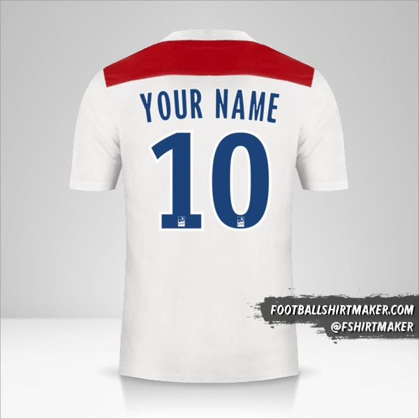Olympique Lyon 2018/19 shirt number 10 your name