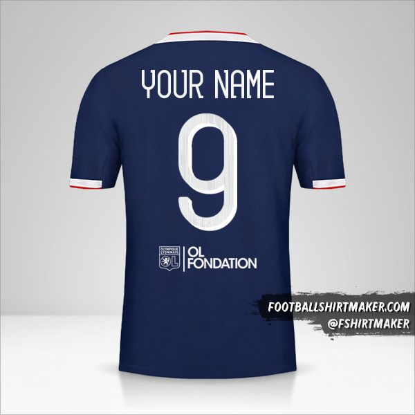 Olympique Lyon shirt 2019/20 Cup II number 9 your name