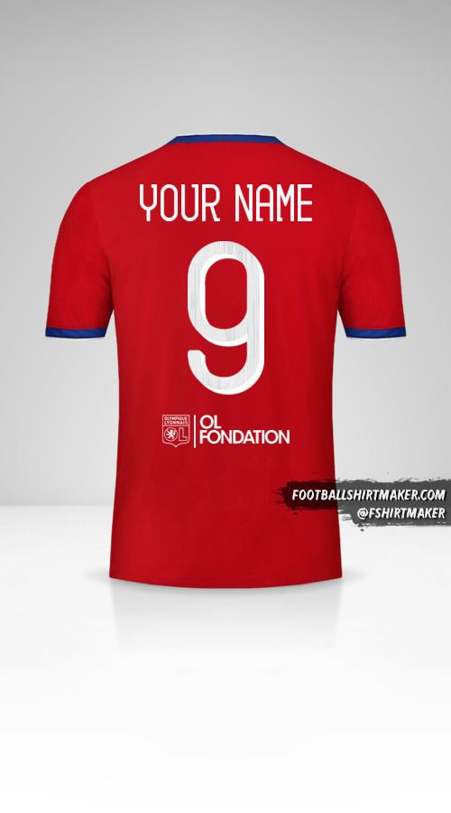 Olympique Lyon 2019/20 Cup III shirt number 9 your name
