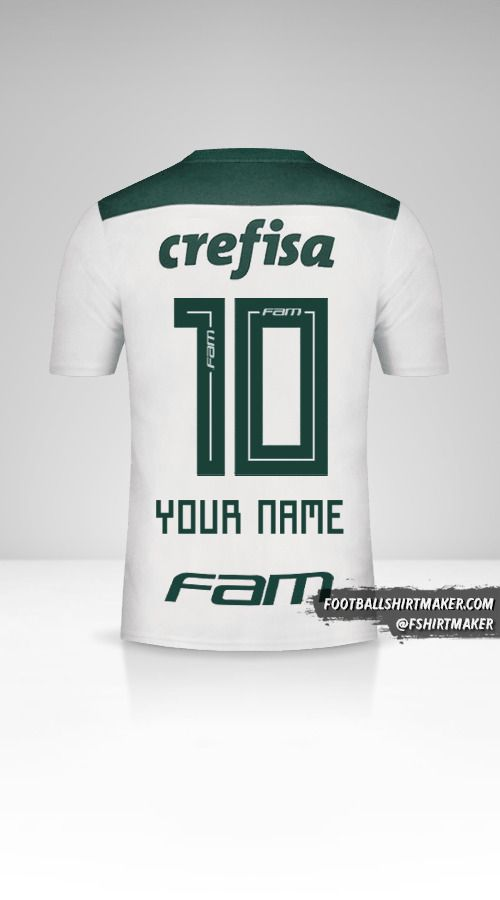 Palmeiras 2018 II shirt number 10 your name