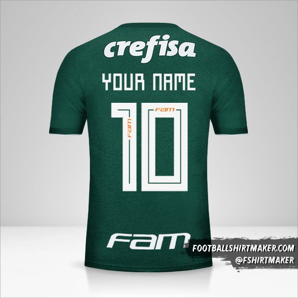 Palmeiras 2018 shirt number 10 your name