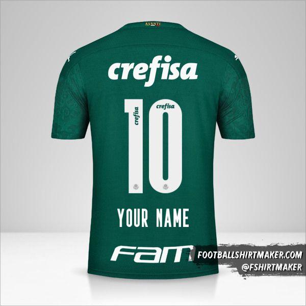 Palmeiras 2020 shirt number 10 your name