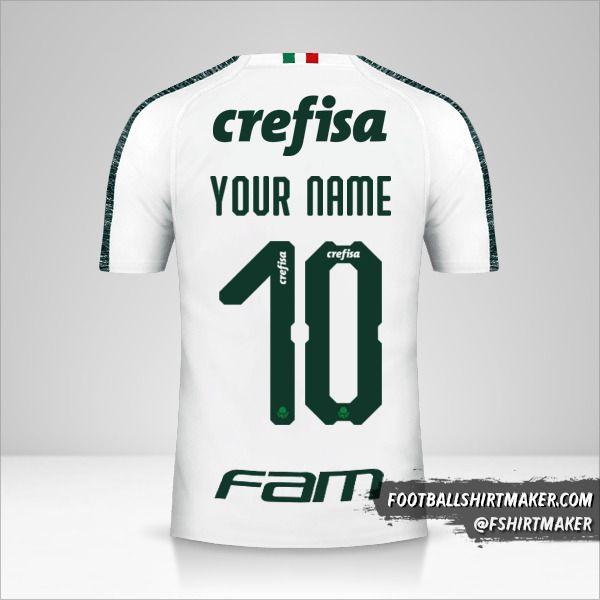 Palmeiras Libertadores 2019 II shirt number 10 your name