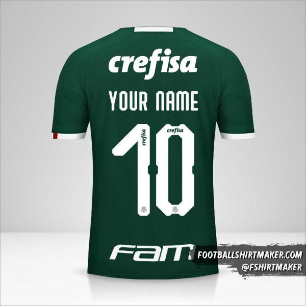 Palmeiras Libertadores 2019 shirt number 10 your name