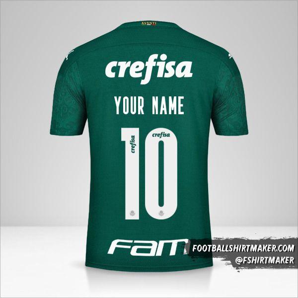 Palmeiras Libertadores 2020 shirt number 10 your name