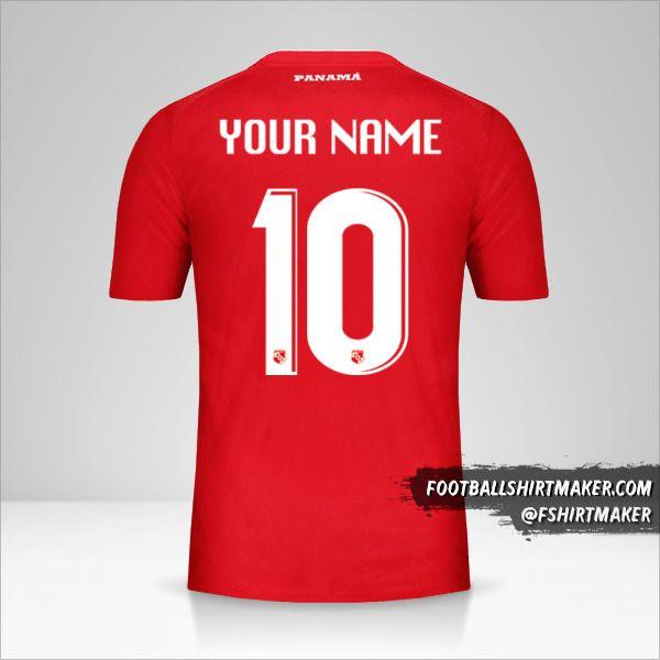 Panama 2018 shirt number 10 your name