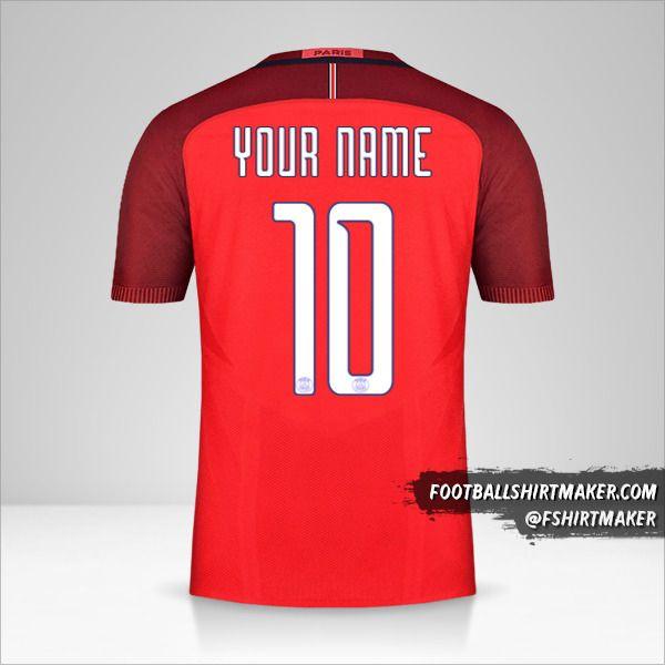 Paris Saint Germain 2016/17 Cup II shirt number 10 your name