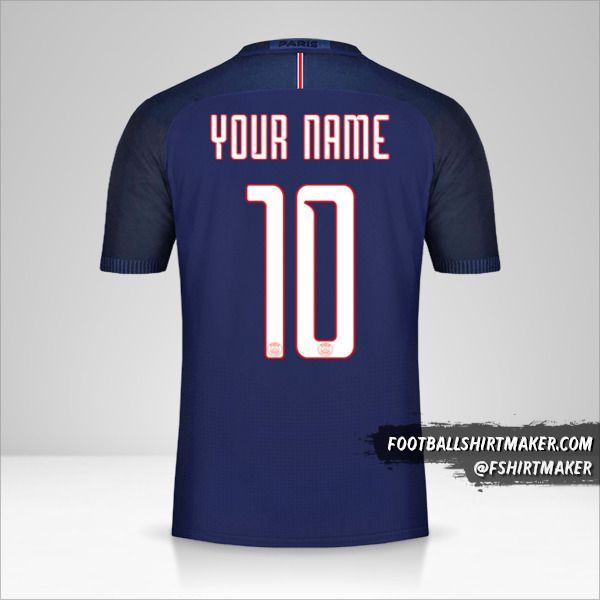Paris Saint Germain 2016/17 Cup shirt number 10 your name