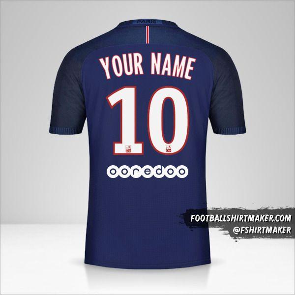 Paris Saint Germain 2016/17 shirt number 10 your name