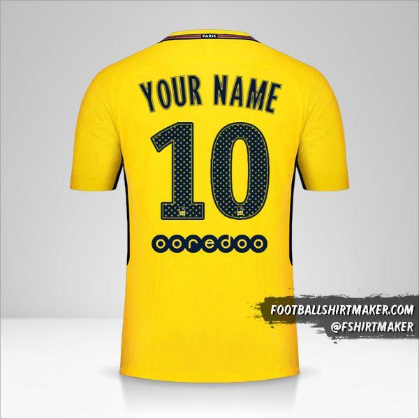 Paris Saint Germain 2017/18 II shirt number 10 your name
