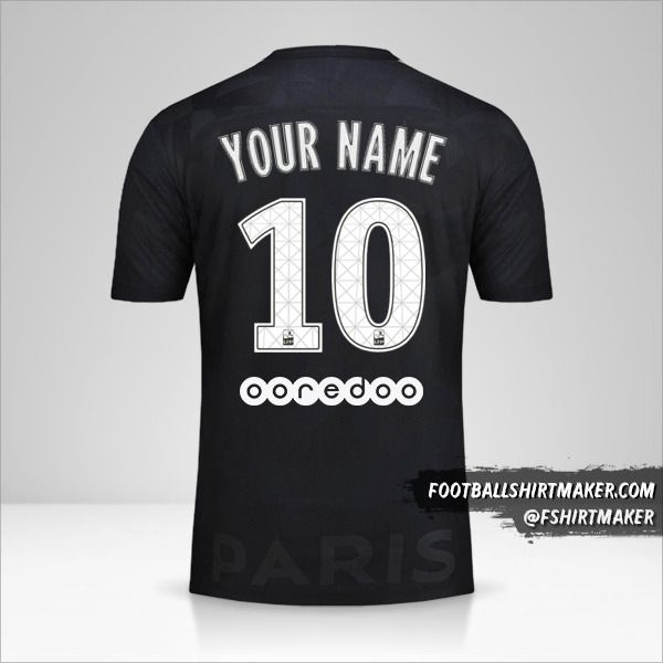 Paris Saint Germain 2017/18 III shirt number 10 your name