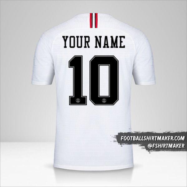 Paris Saint Germain 2018/19 Jordan II shirt number 10 your name