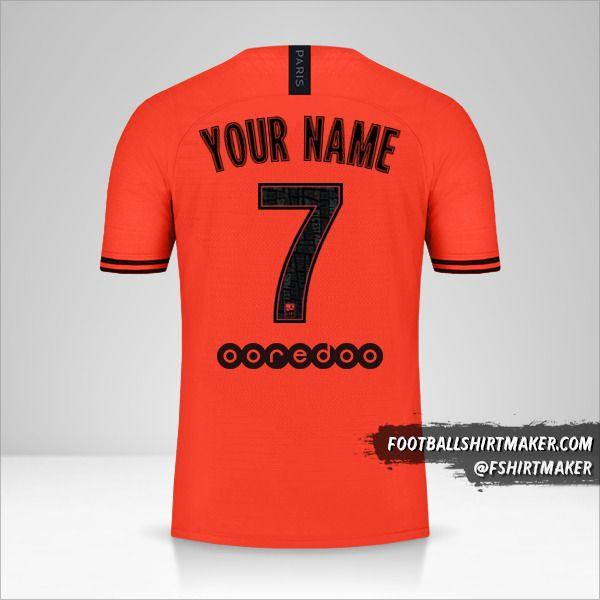 Paris Saint Germain 2019/20 II Jordan shirt number 7 your name